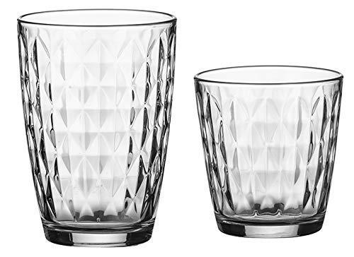 Ravenhead Set di 12 Highball Vetro Bicchieri Alti e Bere Bicchieri Alti Diamante Design