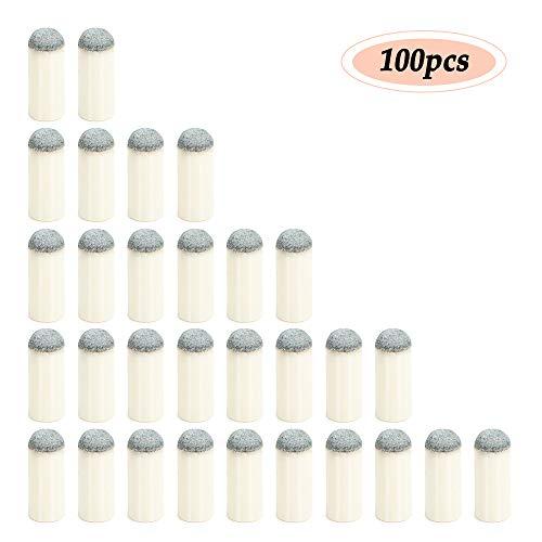 Lixada 100 stuks slip-on zwembad keu tips billard keu ferrules biljartkeu kop 9 mm / 10 mm / 11 mm / 12 mm / 13 mm