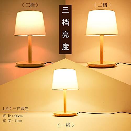 YU-K Hotel is gedecoreerd in een minimalistische stijl Light bar tafellamp van hout warm tafellamp slaapkamer bedlampje 20 * 41 cm
