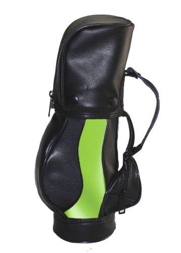 Weinkühler Flaschenkühler Golf Golfbag 3 Farben rot gelb oder grün (Grün)