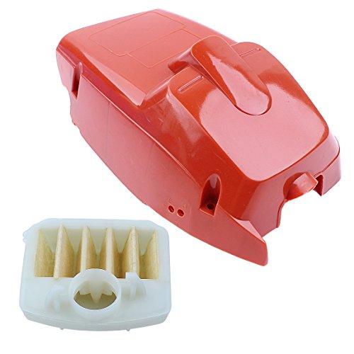 Haishine Kit de Filtro de Aire de la Cubierta del Cilindro de la Cubierta del Motor Superior de para Husqvarna 340 345 350 Motosierra # 503910501 Piezas de Repuesto Nuevo