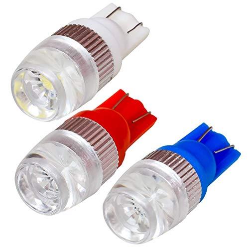 Bulbos 1PCS T10 W5W LED Lámpara de marcador de luz interior de coche 168 194 DIRIGIÓ Bombillas de cuña automática Aparcamiento Luz blanca azul rojo Bombillas vintage (Emitting Color : Blue)