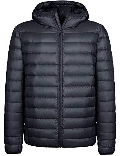 Wantdo Men's Waterproof Ultralight Packable Puffer Down Jacket Dark Grey Medium