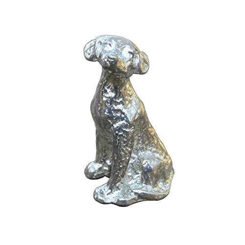 Labrador-Hund-Figur, Labrador Hund Skulptur, Glückshund, Hund Geschenk, Handgegossen von William Sturt, aus Deutsche Zinn (Pewter)
