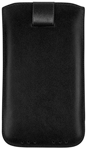 mumbi Echt Ledertasche kompatibel mit Sony Xperia Z1 Hülle Leder Tasche Case Wallet, schwarz