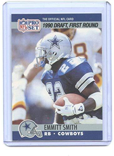 Authentic 1990 Pro Set Football Rookie Card #685 Emmitt Smith Dallas Cowboys