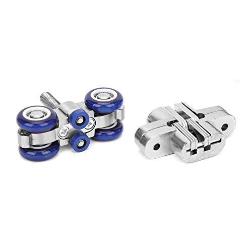 JYSLI Kommt Silent-Hang Rad Holz Schiebetür Roller Möbelbeschläge Werkzeug schwer (Color : Blue)