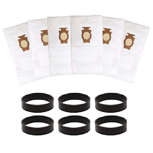 Bolsa de repuesto para aspiradora KIRBY SENTRIA G10, G10E accesorios (6 bolsas de polvo + banda de goma)