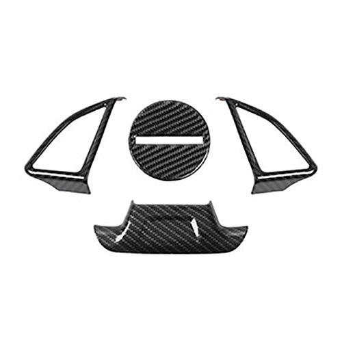 his Ajuste para Chevrolet Camaro 2016-2019 Coche de fibra de carbono Interruptor de la rueda de la rueda de la cubierta de la etiqueta engomada de la cubierta de la etiqueta de la cubierta del marco d