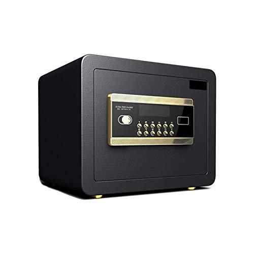 XHMCDZ Caja Fuerte Digital sólido de aleación de acero de la construcción grande de seguridad for el hogar Home Office hotel Caja de seguridad, mesa de noche antirrobo pequeña con las huellas dactilar