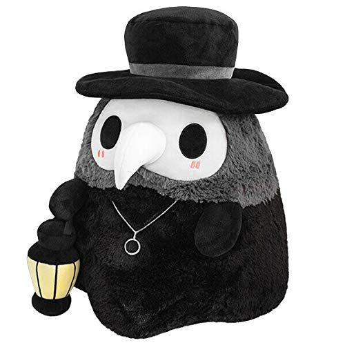 Plague Doctor Plüsch-Spielzeug, quetschbar, leuchtendes Plüsch, Halloween-Mini-Plague-Doktor-Puppe, aus einzigartigem, lichtabsorbierendem Tuch, Geschenk für Freundin