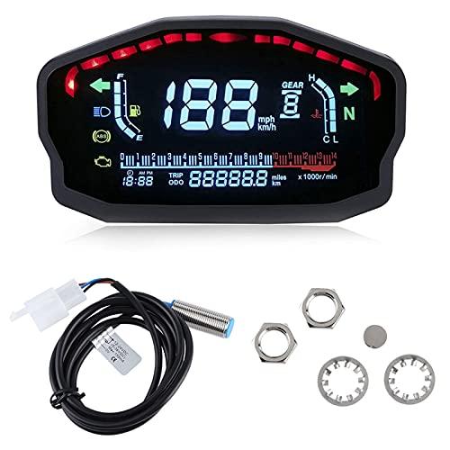 Odómetro de motocicleta, velocímetro de motocicleta, instrumento de motocicleta universal duradero de alta temperatura para piezas de motocicleta Moto