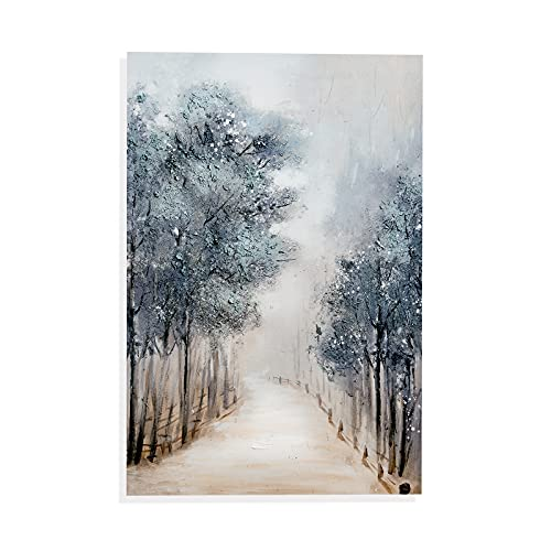 TRAIN2 ART Tree Wall Art for Living Room Hand-Painted Forest Oil Painting Wall Art on Canvas,...