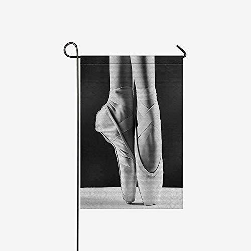 Seizoensgebonden Garden Flag Banner, Huis Decoratieve Vlaggen, Thuis Yard Decor Vlag,Elegante Ballet Schoenen Ballerina'S Pointes Thuis Outdoor Vlaggen Voor Bruiloft, Jubileum, Feest