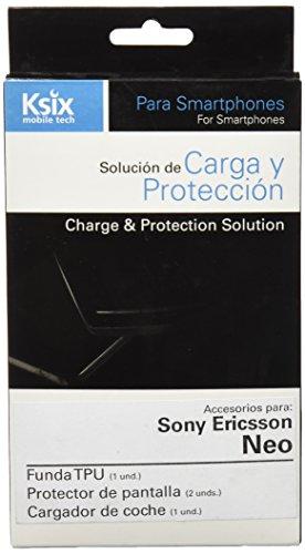 Ksix B3432PACK01 - Pack de accesorios para Sony Ericsson Xperia neo (funda...