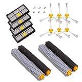 MTKD® Kit Ersatzteile Kompatibel mit iRobot Roomba Serie 800 und 900 - 14 Teile Zubehör-Kit (Bürsten seitlichen Cerda, Filter, Bürste) für Staubsauger Roboter.
