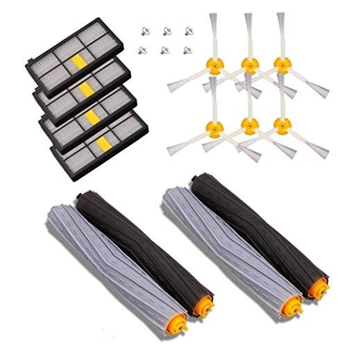 MTKD® Kit de recharges pour Roomba série 800 et série 900 - Kit de 14 pièces accessoires (Brosses Latérale, filtres, brosse de Cerda) pour aspirateur robot.