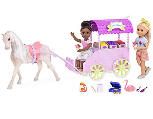 Glitter Girls by Battat – Flower Carriage for 14-inch Dolls - Toys, Clothes and Accessories For Girls 3-Year-Old and Up