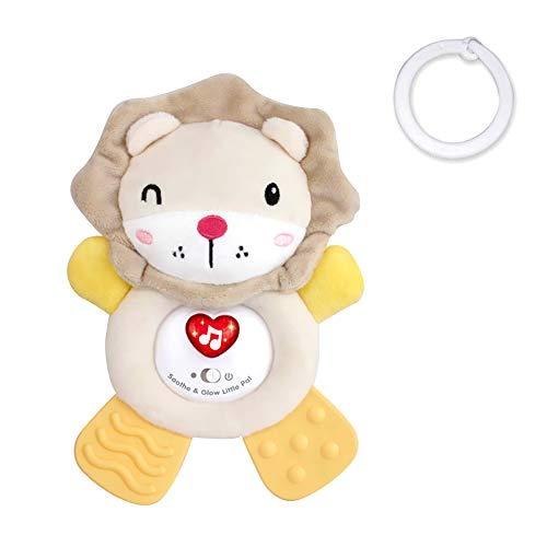 CestMall Baby Einschlafhilfe Geräusche Löwe Herzschlag und weißes Rauschen zur Beruhigung | Automatische Abschaltung Schlafsensor | Kuscheltier, Geschenke zur Geburt, Einschlafhilfe Babys