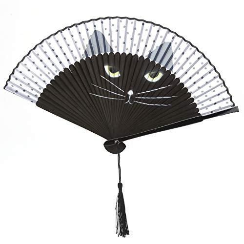 Lafey Abanico Plegable para Gatos, Abanico de Mano de Baile Multiusos práctico...