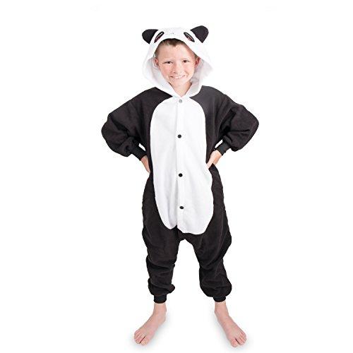 Emolly Fashion Kids Animal Panda Pajama Onesie - Soft and Comfortable with Pockets (10, Panda)