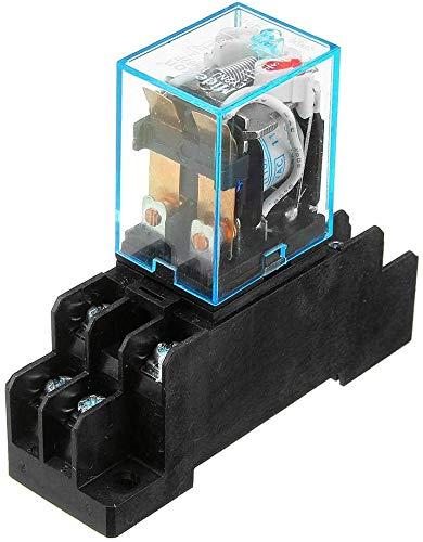 Relé de Potencia de Bobina AC110V LY2NJ JQX-13F DPDT 8 Pines PTF08A con Base de Enchufe 3 Piezas Piezas de módulo electrónico
