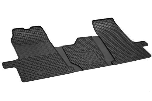 Gummifußmatten passgenau geeignet für Ford Transit 3-Sitzer 2006-2013