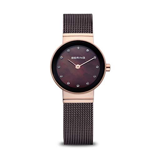 BERING Damen Analog Quarz Classic Collection Armbanduhr mit Edelstahl Armband und Saphirglas 10122-265