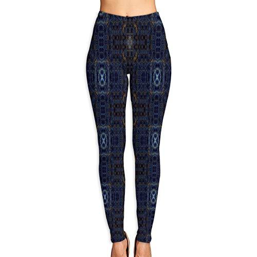 Benle Pantalones de Yoga para Mujer,Azulejos caleidoscópicos del Papel Pintado,Pantalones de Entrenamiento de Cintura Alta Medias elásticas de Yoga Impresas S