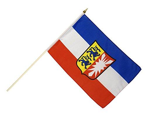 Stockflagge / Stockfahne Deutschland Schleswig-Holstein + gratis Sticker, Flaggenfritze®