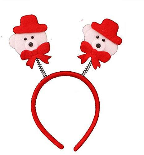 YUY Diadema navidea Cuerno de Reno rbol de Navidad Adornos Diademas de Disfraz para Fiestas navideas 2-10