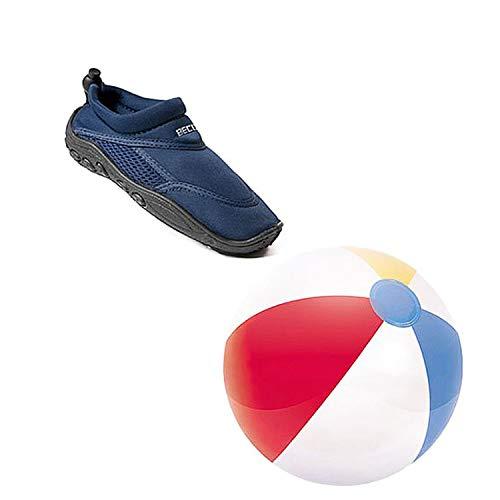 Beco Kombi Surfschuh Badeschuhe Strandschuh + Beachball Wasserball blau Gr. 35