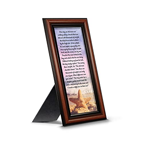 The Starfish Story Teacher Gift, The Legend of The Starfish Wall Decor, Thank You Gifts or Encouragement Gifts, Thinking of You Gifts, Add to Your Thank You Gift Basket, Framed Home Décor 7395W