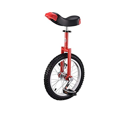 Nuevo 16'18' 20'24' Unichicle Cycling Scooter Circus Bike Juventud Adulto Balance Ejercicio One Mueble Bicicleta Aluminio Rueda (Color : Red, Size : 18inch)