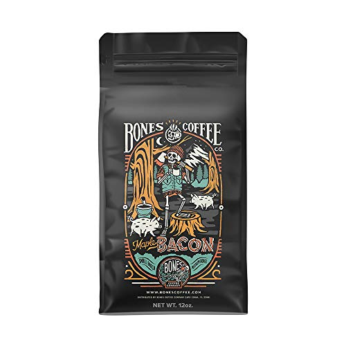 Bones Coffee Company Maple Bacon Coffee Beans (Ground Coffee)