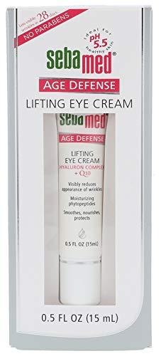 sebamed Anti-Ageing Augencreme Q10, Augenpflege mit Hyaluronsäure & Phyto-Peptiden gegen Falten, Anti-Falten Augen Creme für Frauen, Inhalt 15 ml