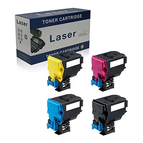 Compatible Reemplazo De Cartuchos De Tóner para Konica Minolta TNP22 TNP22BK TNP22C TNP22M TNP22Y para Su Uso con Konica Minolta Bizhub C35 Impresora, 4-Pack,4p