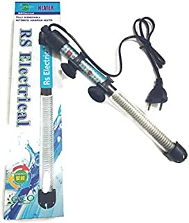 RS Electrical Fully Automatic 100 Watts High Glass Aquarium Heater with Standby Light Indicator and auto on/Off Facility Imported