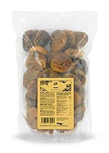 KoRo - higos secos 1 kg - fruta seca natural sin azufre ni azúcar