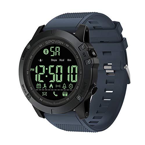 MRSGG Reloj Digital para Exteriores hombre-50M Relojes Deportivos Impermeables Hombre,Reloj LED Negro,con Alarma Temporizador Cuenta Regresiva/Hora dual/Cronómetro/Formato12/24H para Hombre-Cyan
