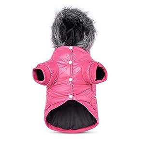PETCUTE Manteau d'hiver pour Chien, vêtements d'hiver pour Chiens, Veste de Doublure en Polaire Chaude pour Chien, Coupe-Vent et imperméable à l'eau, Combinaison d'hiver pour Chien