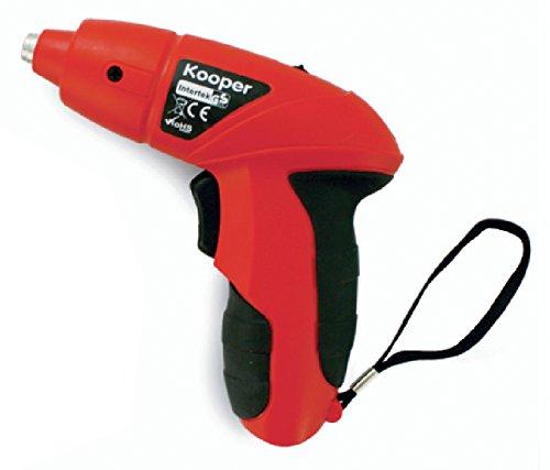 Kooper 2170822 Mini Pistola Atornilladora con Accesorios, 3,6V, en Rojo/Negro