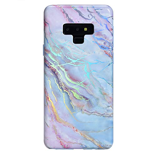 Velvet Caviar Compatible with Samsung Galaxy Note 9 Case Marble for Women & Girls - Cute Protective Phone Cases (Holographic Pink Blue)