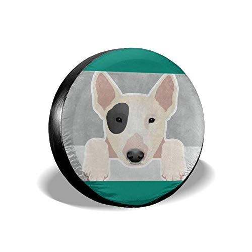 Cubierta de Ruedas de Repuesto,15inch Funda Protectora para Neumáticos recambios,15inch Impermeable,15inch para Remolques,15inch Casas Rodantes,15inch SUV y Otros 14'-17' (Perro gracioso Bull Terrier)