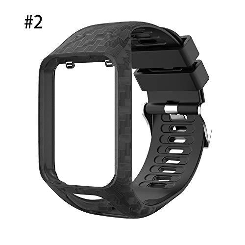BEARCOLO Bande de Silicone Souple Compatible avec Le Bracelet de Sport de Remplacement pour Montre de Sport Spark / 3 série Tomtom Runner 2/3