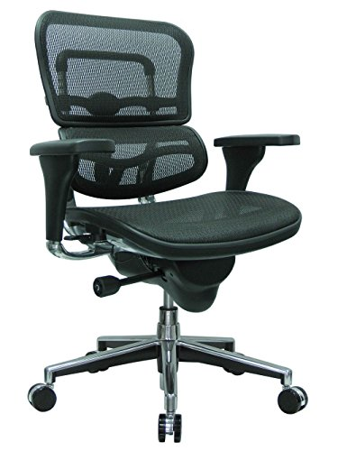 Ergohuman Mesh High Back Ergonomic Chair Dimensions: 26'W x 27.5'D x 40-46'H Seat Dimensions: 19.5'Wx15.5-17.75'Dx18.1-22.9'H Weight: 66 lbs. Black Mesh/Chrome Frame
