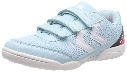 hummel Unisex-Kinder Root JR 2.0 3VC_Dach SMU Multisport Indoor Schuhe, Blau (Iced Aqua 7325), 28 EU