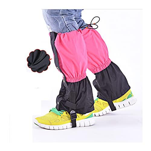 Otoño E Invierno Niños Más Velvet Botas De Nieve Cálidas Outdoor Leggings Ajustables a Prueba De Agua, Desierto Esquí Jungle Trekking Mountain Snow Zapatos Nieve ( Color : Rose Red , Size : One size )