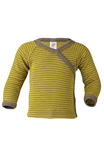 Engel Naturale, maglia fasciatoio, 70% lana (KBA), 30% seta Zafferano / noce 62/68 cm