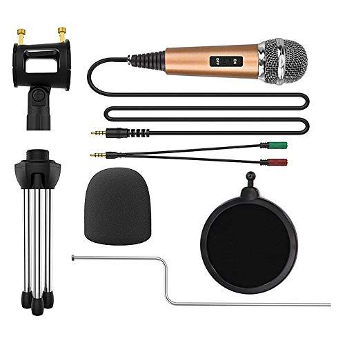 JVSISM Microfono De Condensador Para Telefono Con Soporte Para Computadora 7 Grabacion Podcasting Movil Android Karaoke Microfono